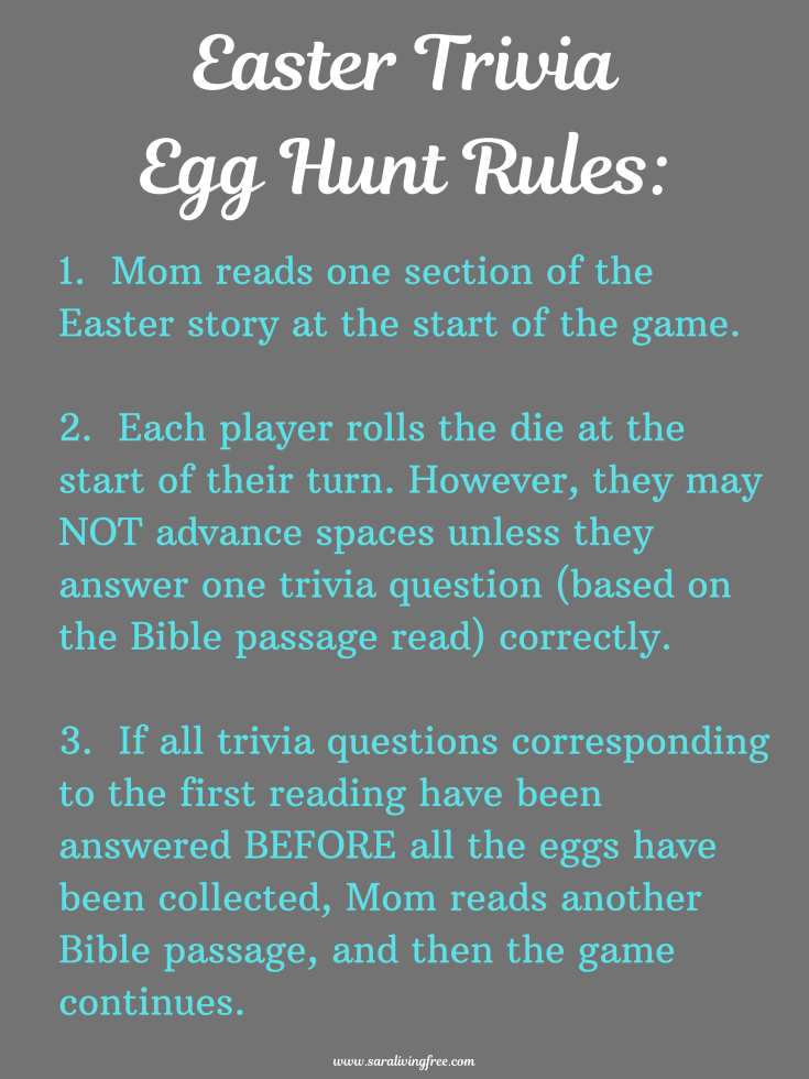 Easter Trivia Egg Hunt