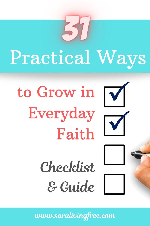 FREE checklist 31 ways to grow in everyday faith